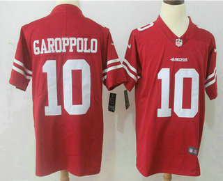 Men's San Francisco 49ers #10 Jimmy Garoppolo Red 2017 Vapor Untouchable Stitched NFL Nike Limited Jersey