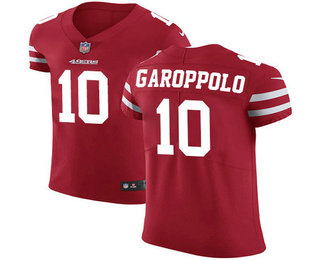 Nike 49ers #10 Jimmy Garoppolo Red Team Color Men's Stitched NFL Vapor Untouchable Elite Jersey
