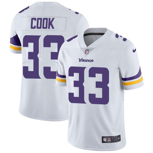 Youth Nike Minnesota Vikings #33 Dalvin Cook White Stitched NFL Vapor Untouchable Limited Jersey