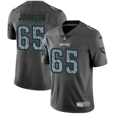 Nike Philadelphia Eagles #65 Lane Johnson Gray Static Men's NFL Vapor Untouchable Game Jersey