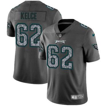 Nike Philadelphia Eagles #62 Jason Kelce Gray Static Men's NFL Vapor Untouchable Game Jersey