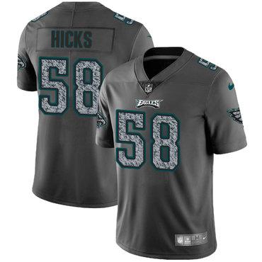 Nike Philadelphia Eagles #58 Jordan Hicks Gray Static Men's NFL Vapor Untouchable Game Jersey