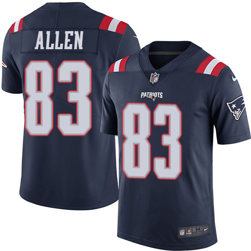 Youth Nike New England Patriots #83 Dwayne Allen Navy Blue Stitched NFL Limited Rush Jersey