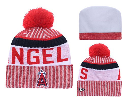 MLB Los Angeles Angels Logo Stitched Knit Beanies 001
