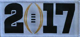 2017 College National Championship Playoff Game Jersey Patch White