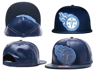NFL Tennessee Titans Team Logo Navy Reflective Snapback Adjustable Hat G456
