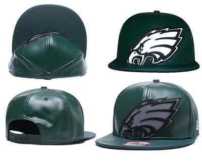NFL Philadelphia Eagles Team Logo Green Reflective Adjustable Hat