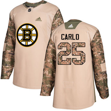 Adidas Bruins #25 Brandon Carlo Camo Authentic 2017 Veterans Day Stitched NHL Jersey