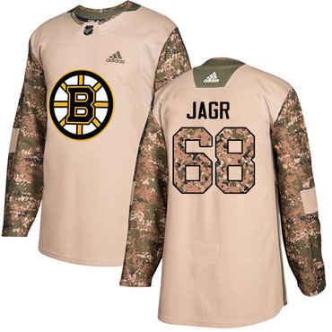 Adidas Bruins #68 Jaromir Jagr Camo Authentic 2017 Veterans Day Stitched NHL Jersey