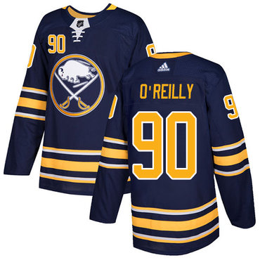Adidas Sabres #90 Ryan O'Reilly Navy Blue Home Authentic Stitched NHL Jersey