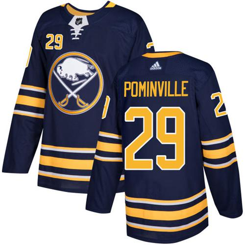 Adidas Sabres #29 Jason Pominville Navy Blue Home Authentic Stitched NHL Jersey