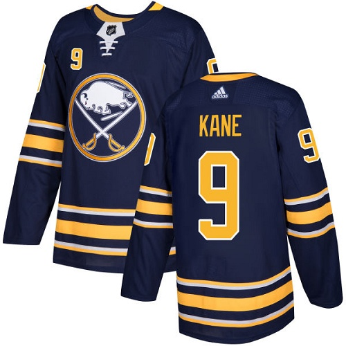 Adidas Sabres #9 Evander Kane Navy Blue Home Authentic Stitched NHL Jersey