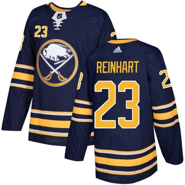 Adidas Sabres #23 Sam Reinhart Navy Blue Home Authentic Stitched NHL Jersey