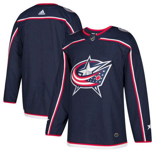 Adidas Blue Jackets Blank Navy Blue Home Authentic Stitched NHL Jersey