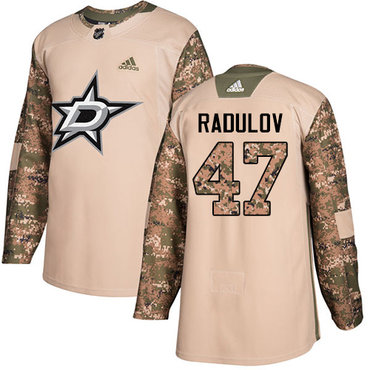Adidas Stars #47 Alexander Radulov Camo Authentic 2017 Veterans Day Stitched NHL Jersey