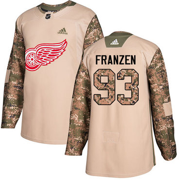 Adidas Red Wings #93 Johan Franzen Camo Authentic 2017 Veterans Day Stitched NHL Jersey
