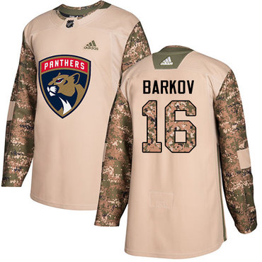 Adidas Panthers #16 Aleksander Barkov Camo Authentic 2017 Veterans Day Stitched NHL Jersey