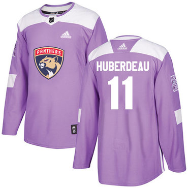 Adidas Panthers #11 Jonathan Huberdeau Purple Authentic Fights Cancer Stitched NHL Jersey