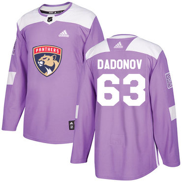 Adidas Panthers #63 Evgenii Dadonov Purple Authentic Fights Cancer Stitched NHL Jersey