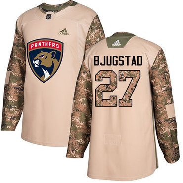Adidas Panthers #27 Nick Bjugstad Camo Authentic 2017 Veterans Day Stitched NHL Jersey