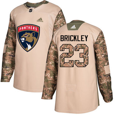 Adidas Panthers #23 Connor Brickley Camo Authentic 2017 Veterans Day Stitched NHL Jersey