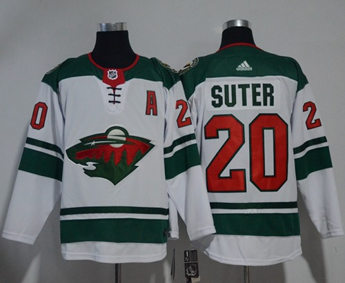 Adidas Wild #20 Ryan Suter White Road Authentic Stitched NHL Jersey