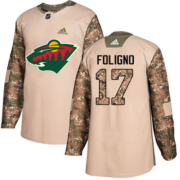 Adidas Wild #17 Marcus Foligno Camo Authentic 2017 Veterans Day Stitched NHL Jersey