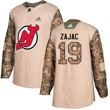 Adidas Devils #19 Travis Zajac Camo Authentic 2017 Veterans Day Stitched NHL Jersey