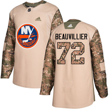 Adidas Islanders #72 Anthony Beauvillier Camo Authentic 2017 Veterans Day Stitched NHL Jersey