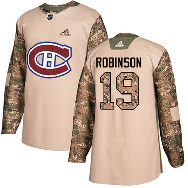 Adidas Canadiens #19 Larry Robinson Camo Authentic 2017 Veterans Day Stitched NHL Jersey