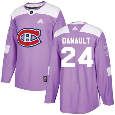 Adidas Canadiens #24 Phillip Danault Purple Authentic Fights Cancer Stitched NHL Jersey