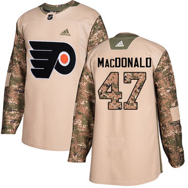 Adidas Flyers #47 Andrew MacDonald Camo Authentic 2017 Veterans Day Stitched NHL Jersey