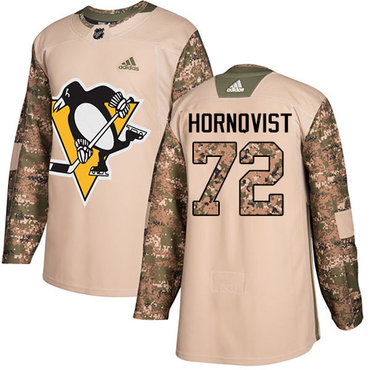 Adidas Penguins #72 Patric Hornqvist Camo Authentic 2017 Veterans Day Stitched NHL Jersey