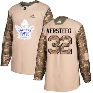 Adidas Maple Leafs #32 Kris Versteeg Camo Authentic 2017 Veterans Day Stitched NHL Jersey