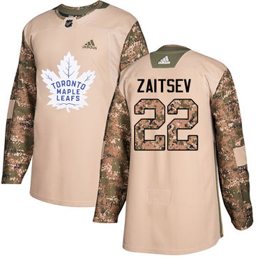 Adidas Maple Leafs #22 Nikita Zaitsev Camo Authentic 2017 Veterans Day Stitched NHL Jersey