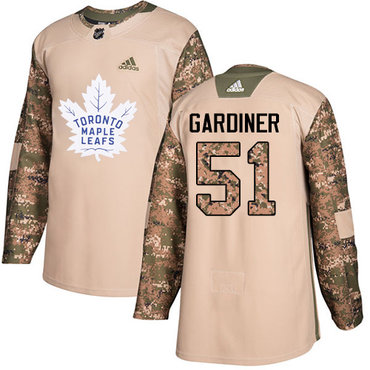 Adidas Maple Leafs #51 Jake Gardiner Camo Authentic 2017 Veterans Day Stitched NHL Jersey