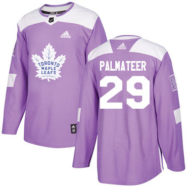Adidas Maple Leafs #29 Mike Palmateer Purple Authentic Fights Cancer Stitched NHL Jersey