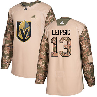 Adidas Golden Knights #13 Brendan Leipsic Camo Authentic 2017 Veterans Day Stitched NHL Jersey