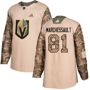 Adidas Golden Knights #81 Jonathan Marchessault Camo Authentic 2017 Veterans Day Stitched NHL Jersey
