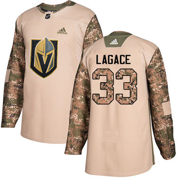 Adidas Golden Knights #33 Maxime Lagace Camo Authentic 2017 Veterans Day Stitched NHL Jersey
