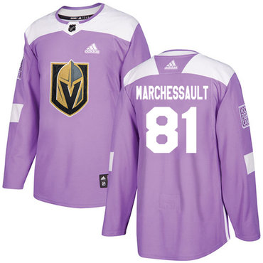 Adidas Golden Knights #81 Jonathan Marchessault Purple Authentic Fights Cancer Stitched NHL Jersey