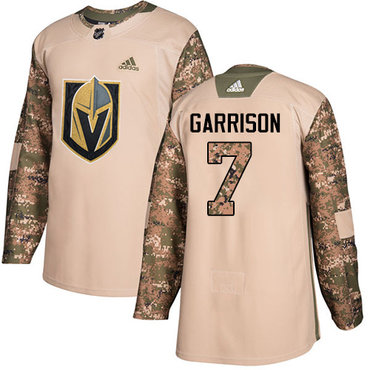 Adidas Golden Knights #7 Jason Garrison Camo Authentic 2017 Veterans Day Stitched NHL Jersey