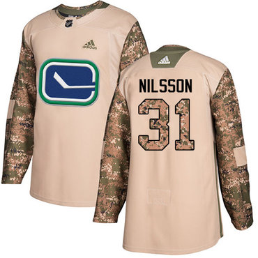 Adidas Canucks #31 Anders Nilsson Camo Authentic 2017 Veterans Day Stitched NHL Jersey