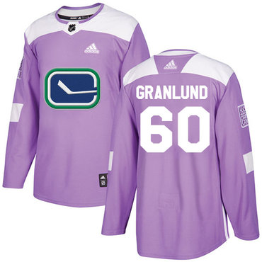 Adidas Canucks #60 Markus Granlund Purple Authentic Fights Cancer Stitched NHL Jersey