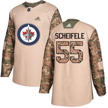 Adidas Jets #55 Mark Scheifele Camo Authentic 2017 Veterans Day Stitched NHL Jersey
