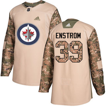 Adidas Jets #39 Tobias Enstrom Camo Authentic 2017 Veterans Day Stitched NHL Jersey