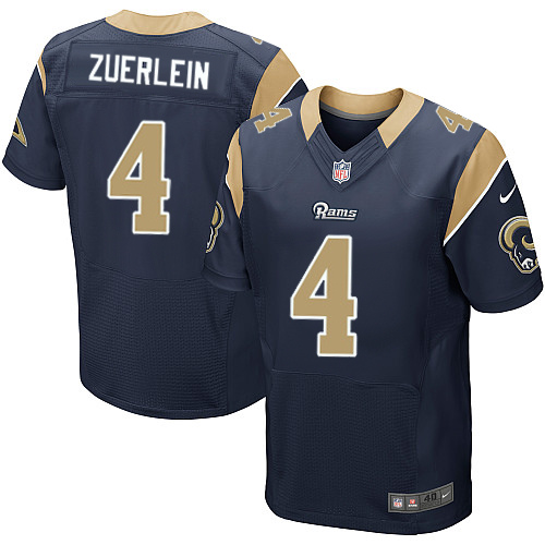 Nike Rams #4 Greg Zuerlein Navy Blue Team Color Men's Stitched NFL Elite Jersey