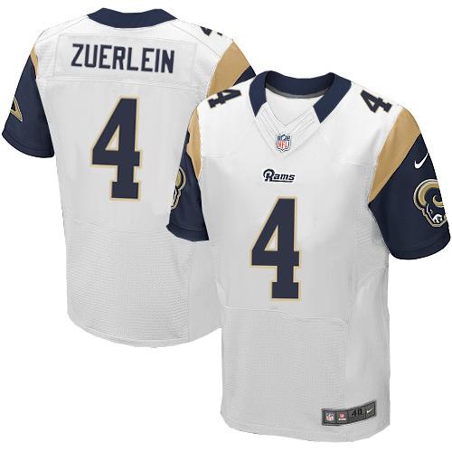 Nike Rams #4 Greg Zuerlein White Men's Stitched NFL Elite Jersey