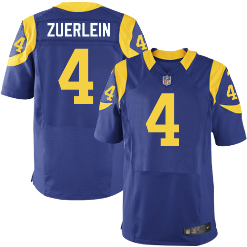 Nike Rams #4 Greg Zuerlein Royal Blue Alternate Men's Stitched NFL Elite Jersey