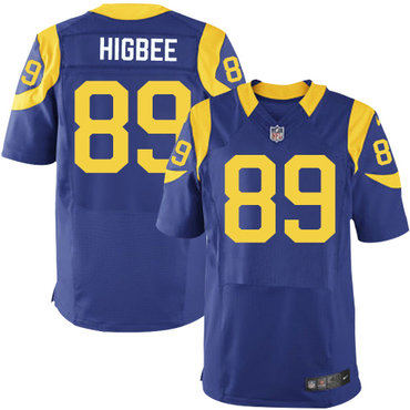 Nike Rams #89 Tyler Higbee Royal Blue Alternate Men's Stitched NFL Elite Jersey